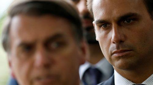"""El hijo de Jair Bolsonaro acudirá a la Casa Blanca para """"agradecer"""" el respaldo de Donald Trump en la crisis por el Amazonas"""