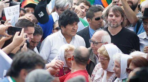 Evo Morales acompañó a las Madres en su histórica ronda