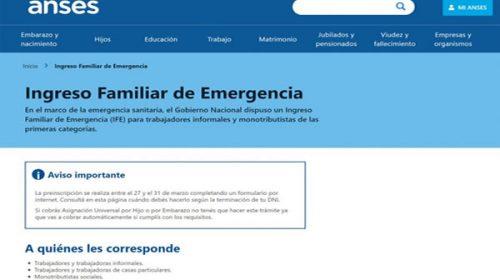 Ingreso Familiar de Emergencia: último día para la preinscripción